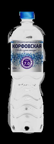 Корфовская 1,5 л. среднегазированная